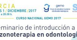 Curso Gemo 1 diciembre. Seminario de introducción a la ozonoterapia en odontología